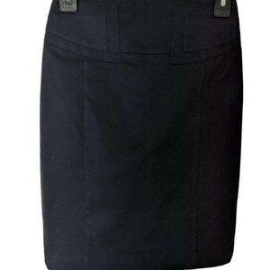 Express Sz 00 Navy Blue Buckle Detail Pencil Skirt